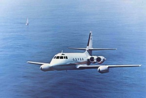 Swearingen Aircraft Corporation's re-engineering of this Lockheed Jetstar led to a range increase of 1,000 nautical miles as well as making it one of the quietest jets available.