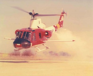 In one of the more interesting experiments of Ed Swearingen's career, he equipped this Huey helicopter with fixed and rotary wings as well as jet engines, for a top speed of 305 mph.