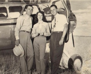 Both Kati and Ed worked for Lou Clinton (left) at Clinton Aviation, an FBO that was first located at Stapleton Airpor t before relocating to Arapahoe County Airport. Kati worked for the company in the late 1940s and Ed from 1962-1976.