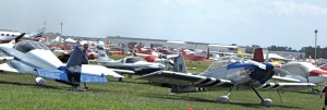 A sea of airplanes covered many acres of the Lakeland Linder Airport.