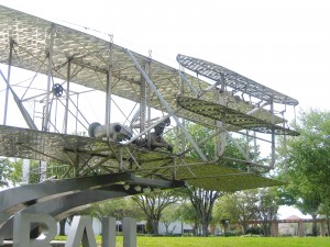 This beautiful stainless-steel statue of the Wright Flyer celebrates the Netherlands 100 years of flight.