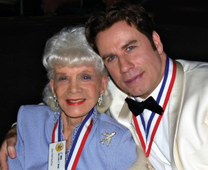 Living Legends John Travolta and Zoe Dell Lantis Nutter visit during the 5th annual awards ceremony on Jan. 24, 2008, at the Beverly Hilton Hotel. Zoe Dell was recently named the First Lady of Aviation.