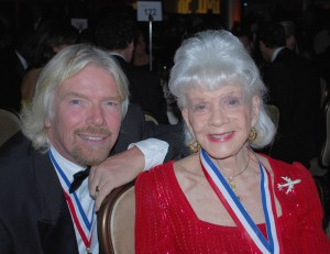 Sir Richard Branson and Zoe Dell enjoyed time together at the 6th Annual Living Legends of Aviation in Beverly Hills.