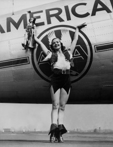 Zoe Dell served as spokes-woman for many commercial airlines, including American.