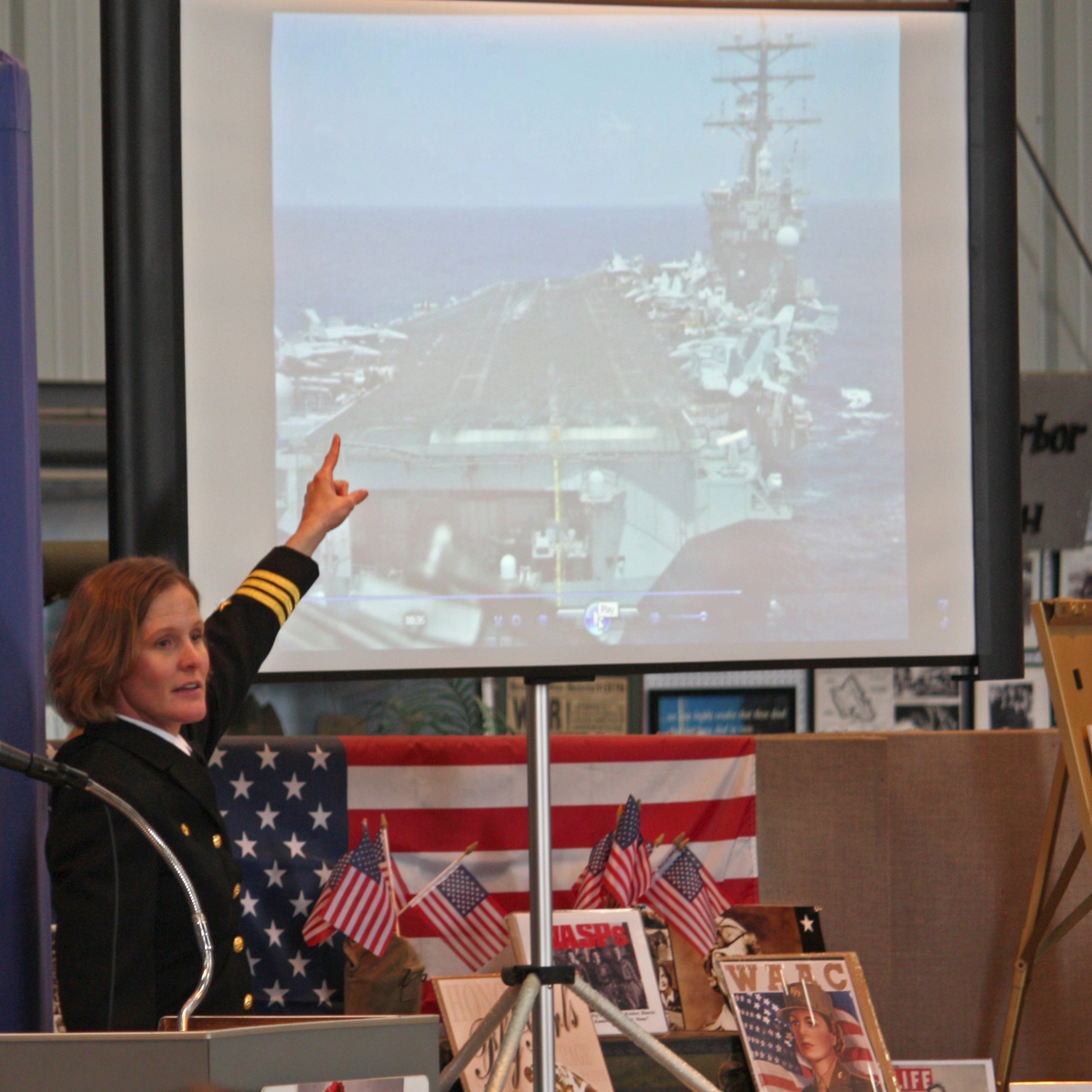 Cmdr. Valerie Overstreet describes landing on a carrier.