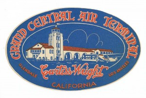 Grand Central Air Terminal Luggage Label