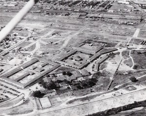 An aerial view taken on the airport's opening day in February 1929.