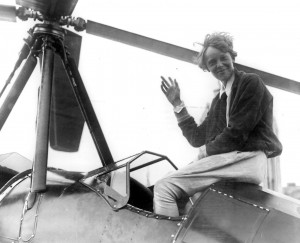 Amelia Earhard at Grand Central Airport in 1931