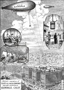 The Slate Dirigible Company's concept of air travel in 1929.