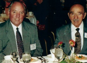 Charles and George Priester are seen here at a local Chamber of Commerce event. Currently, Charles is actively involved in many community and charitable organizations such as the University of Chicago Cancer Center.