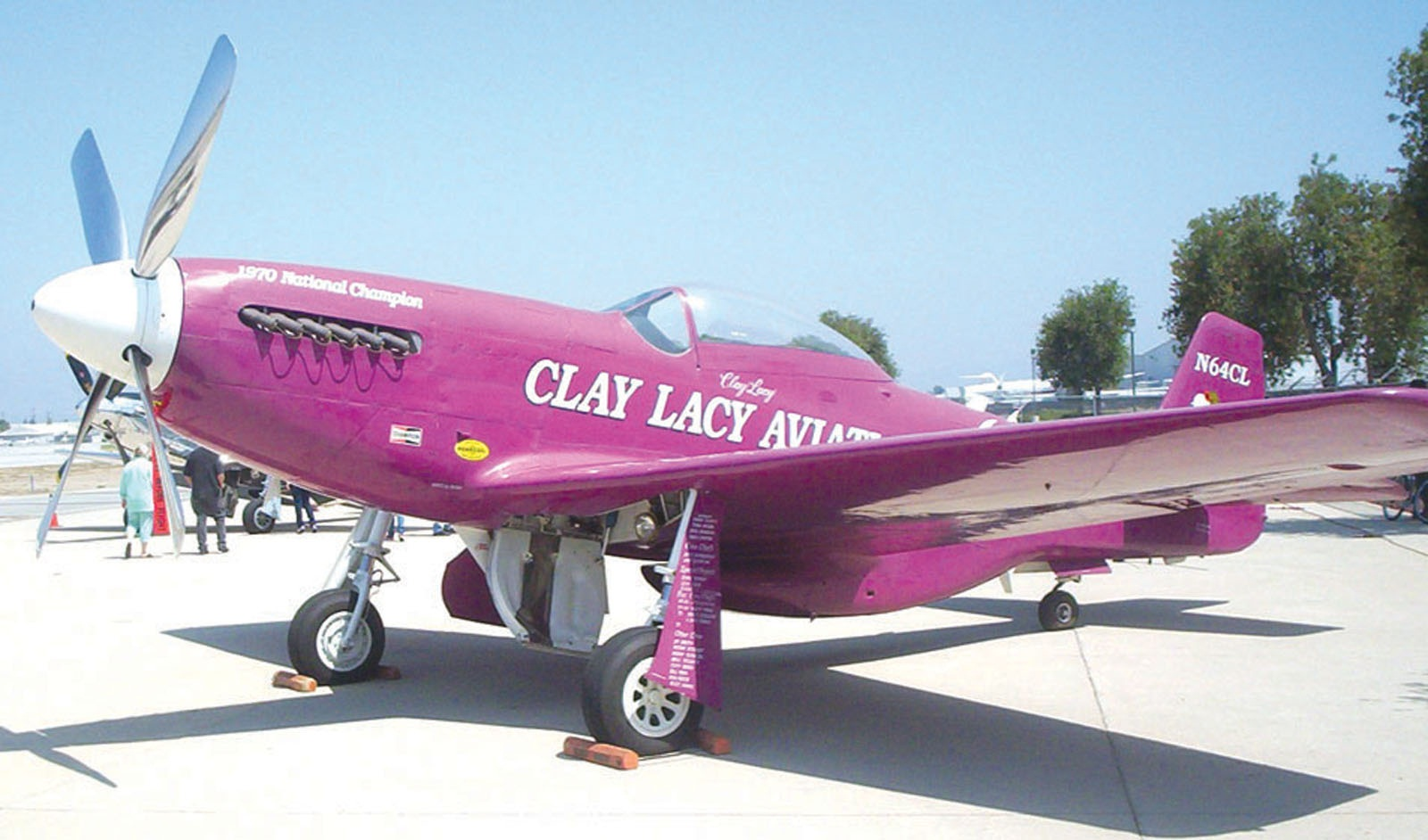 Clay Lacy's P-51 Mustang.